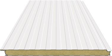 Sandwichpaneele Wand   200mm Steinwolle   RAL 9010 (Reinweiß)