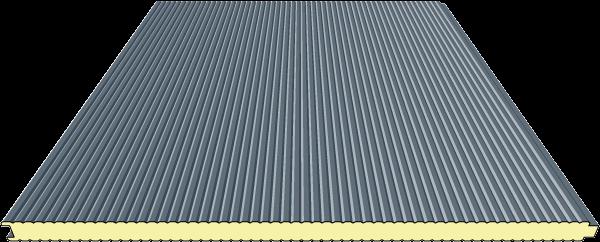 60 mm Sandwichplatten Wand | RAL 7016 (anthrazit) | mikroliniert