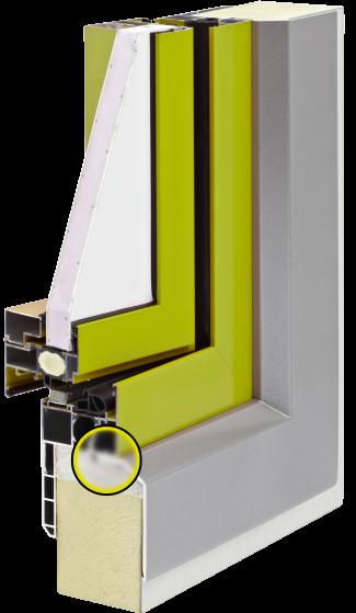 Super Fensterelement für Sandwichpaneele - ohne Schrauben und Nieten GK34