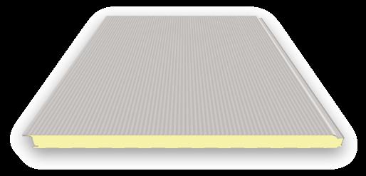 60 mm Sandwichplatten Wand | RAL 9006 (weißaluminium) | verdeckte Befestigung