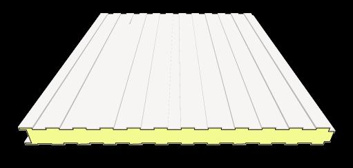 80 mm Sandwichplatten Wand | RAL 9002 (grauweiß)
