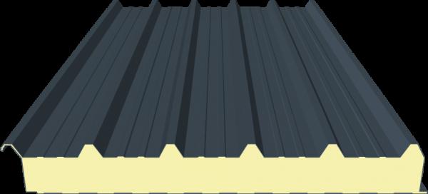 Sandwichplatte Dach 100mm RAL7016