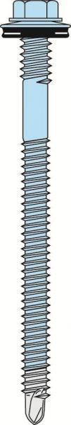 Selbstbohrende Edelstahl Bi-Metallschrauben für Aussen zur Befestigung von Paneelen auf Holzunterkonstruktion