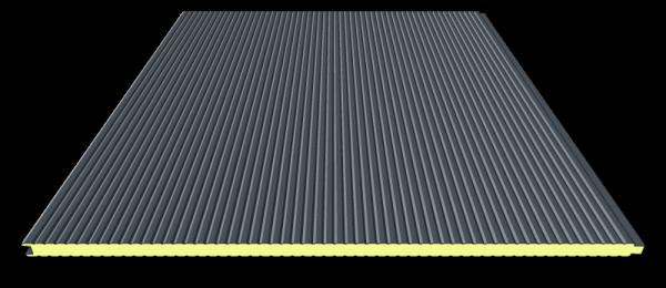 40 mm Sandwichplatten Wand | RAL 7016 ( anthrazit) | mikroliniert