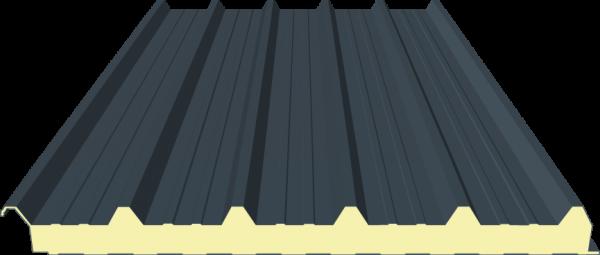 Sandwichplatte Dach 60mm RAL7016